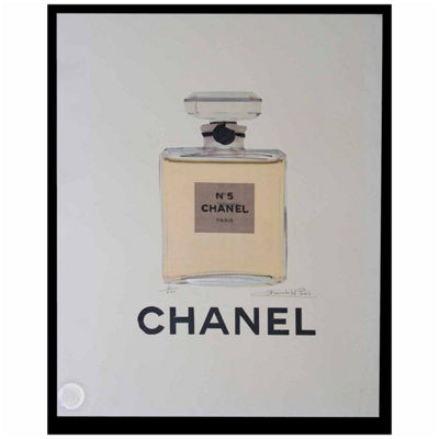 Fairchild Paris Chanel No. 5 Classic Bottle Framed Wall Art