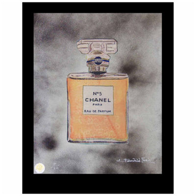 Fairchild Paris Orange Chanel No. 5 Jupiter Framed Wall Art