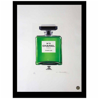 Fairchild Paris Chanel No. 5 Green Bottle Framed Wall Art