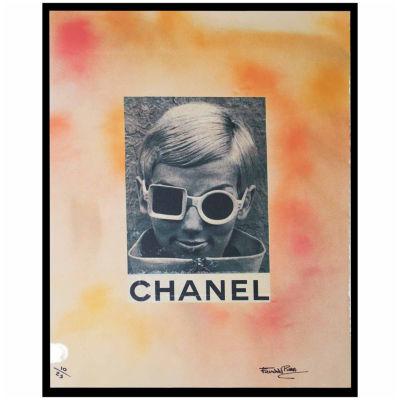 Fairchild Paris Woman With Sunglasses Framed Wall Art
