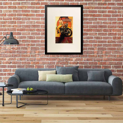 Fairchild Paris Harley Davidson Framed Wall Art