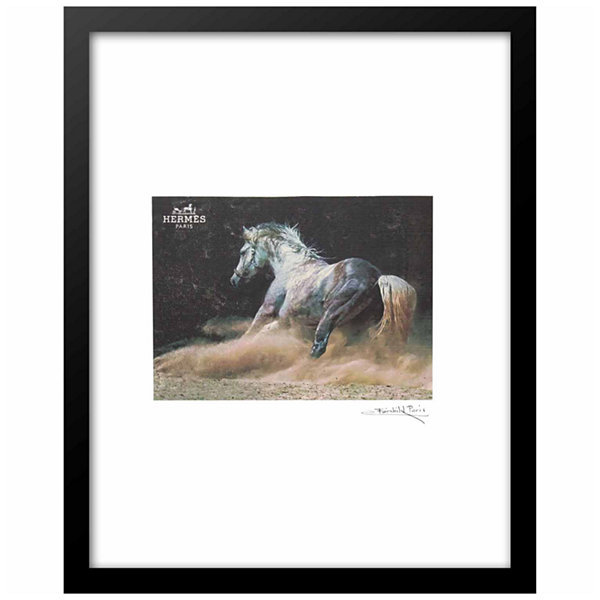 Fairchild Paris Hermes Horse Gray Stallion Framed Wall Art