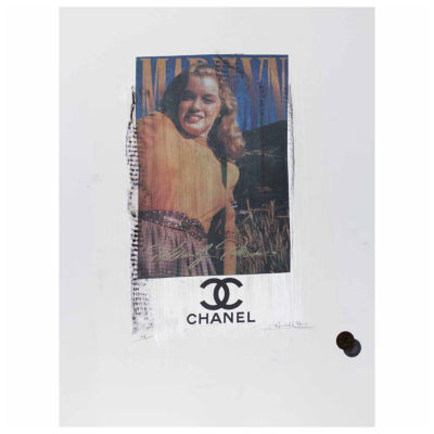 Fairchild Paris Marilyn Monroe Chanel Ad (728) Framed Wall Art