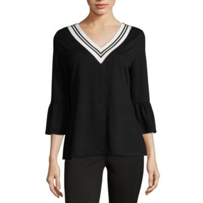 Como Blu 3/4 Bell Sleeve French Terry Sweatshirt