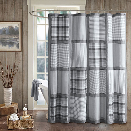 Woolrich Huntington Cotton Percale Printed Shower Curtain