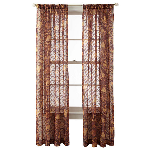 Royal Velvet® Frasier Rod-Pocket Sheer Panel