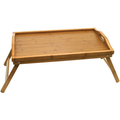 Bamboo TV Tray Table with Folding Legs