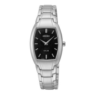 Seiko® Womens Stainless Steel Solar Bracelet Watch SUP259
