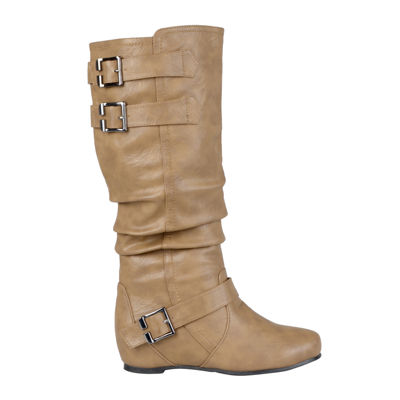 Journee Collection Tiffany Wide Calf Slouch Riding Boots