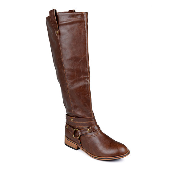 Journee Collection Womens Walla Wide Calf Riding Boots