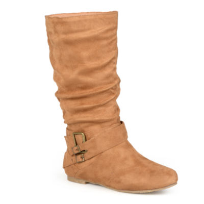 Journee Collection Shelley 6 Buckle-Accented Mid-Rise Slouch Boots