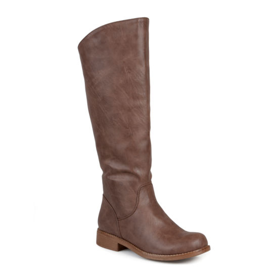 Journee Collection Lawren Wide Calf Riding Boots