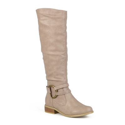 Journee Collection Charming Knee-High Riding Boots - Wide Calf