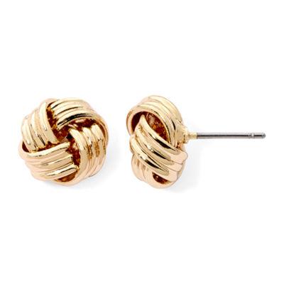 Gold Love Knot Earrings tiwSK