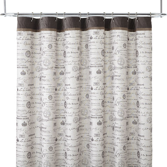 Edwardian Script Shower Curtain