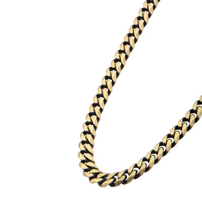 "Gold Tone Stainless Steel 22"" Curb Chain Necklace"