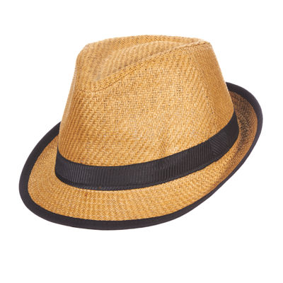 St. John's Bay® Matte Toyo Safari Fedora With Black Band