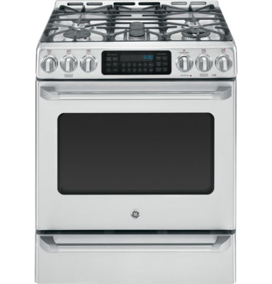 """GE Cafe 30"""" 6.4 Cu. Ft. Gas Range Self Cleaning Convection Oven & Baking Drawer"""""""
