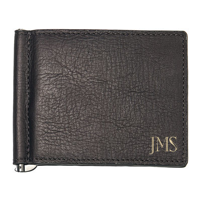 Personalized Leather Wallet with Money Clip & Multi-Function Tool