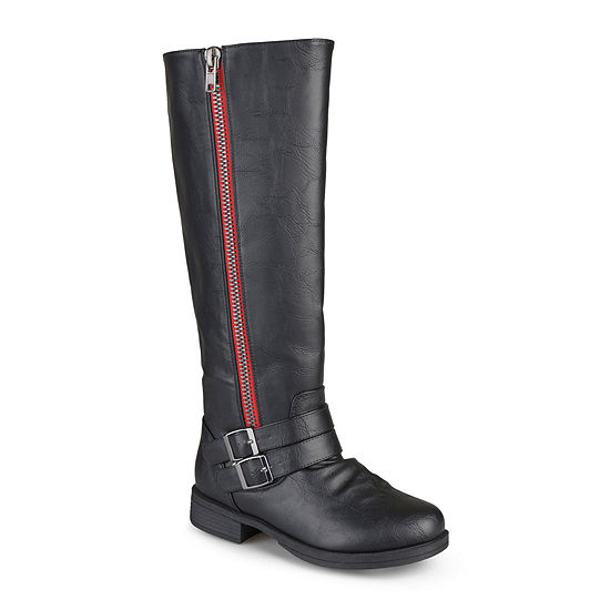Journee Collection Womens Lady Wide Calf Side-Zip Riding Boots