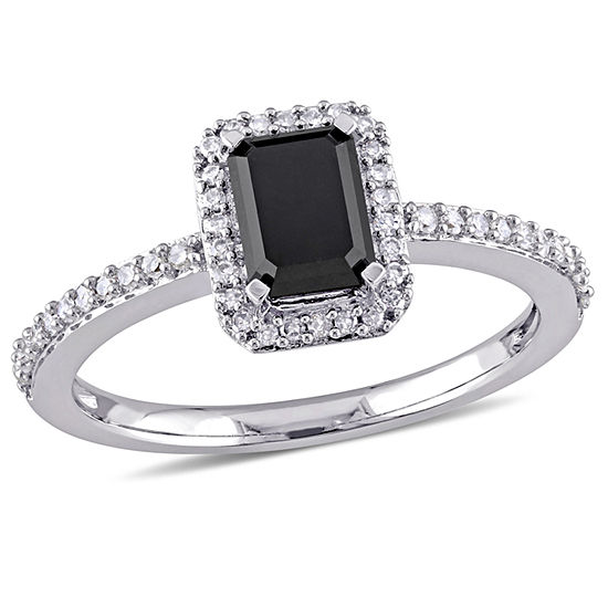 Midnight Black Womens 1 1/5 CT. T.W. Genuine Black Diamond 10K Gold Engagement Ring