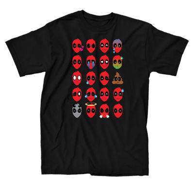 Marvel Deadpool Faces Graphic T-Shirt