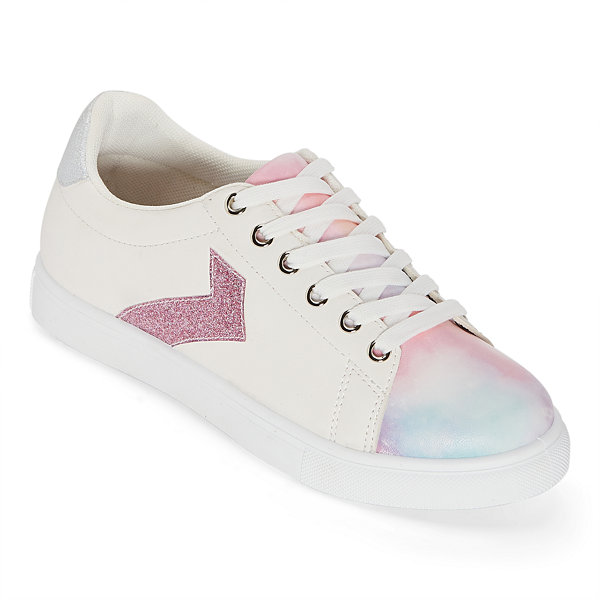 Pop Womens Game On Lace Up Sneakers