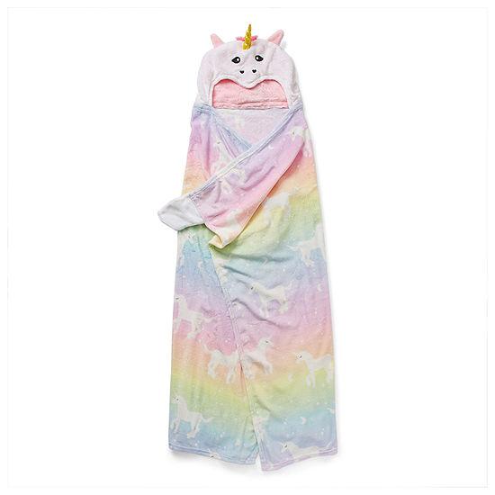 Capelli of N.Y. Novelty Little & Big Girls Microfiber Long Sleeve Mid Length Robe