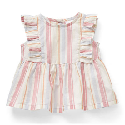 Okie Dokie Baby Girls Round Neck Sleeveless Blouse