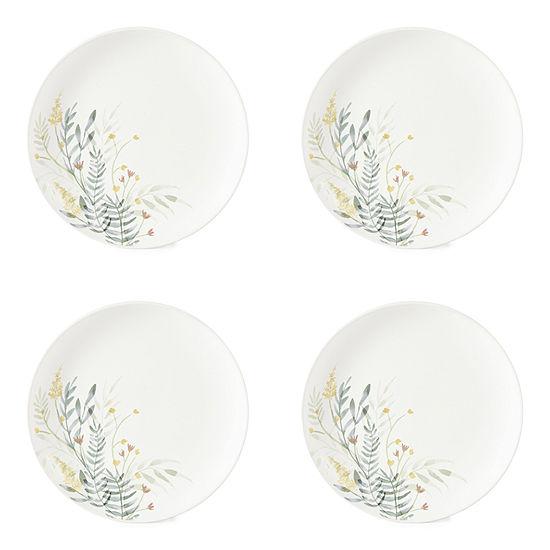 Linden Street Floral 4-pc. Stoneware Salad Plate