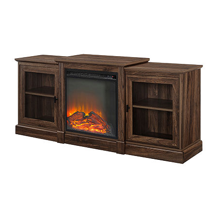 60″ Classic Tiered Top Fireplace TV Console