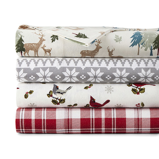 North Pole Trading Co. Cotton Flannel Sheet Set