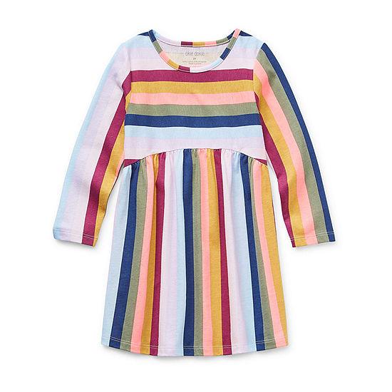 Okie Dokie Little Girls Long Sleeve Swing Dresses