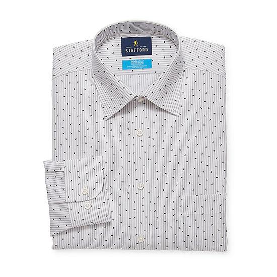 Stafford Mens All Season Coolmax Moisture Wicking Dress Shirt
