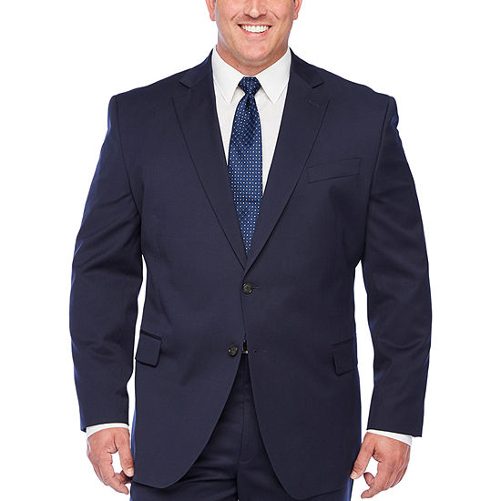 Stafford Super Mens New Navy Big & Tall Suit Separates