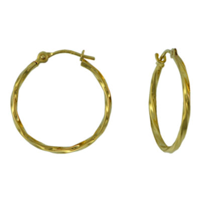 Polished Twisted Hoop Earring