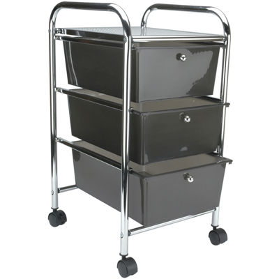 Cropper Hopper 3-Drawer Rolling Cart
