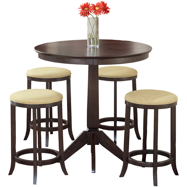 Tiburon 5 pc Counter Height Bistro Table Set