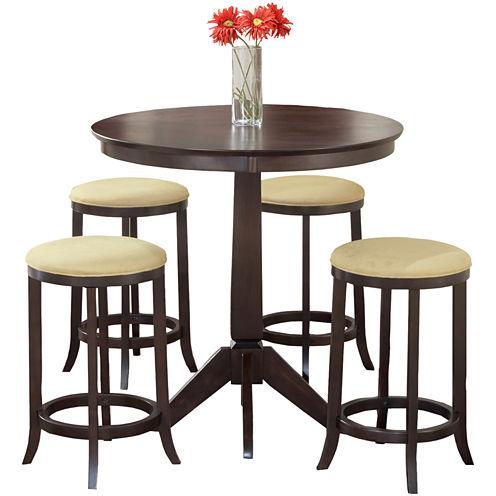Tiburon 5-pc. Counter-Height Bistro Table Set