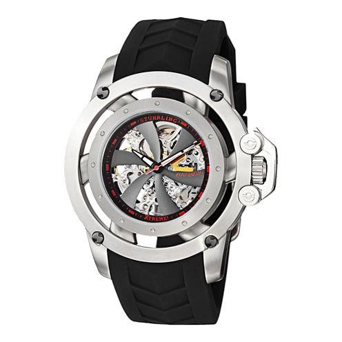 Stührling® Original Mens Propeller-Style Skeleton Automatic Watch