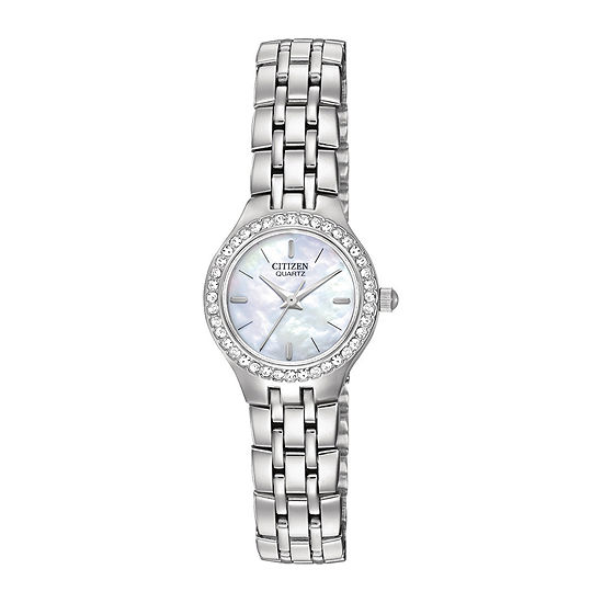 Citizen® Womens Crystal-Accent Bracelet Watch EJ6040-51D