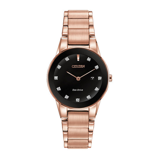 Citizen Axiom Womens Rose Goldtone Stainless Steel Bracelet Watch - Ga1058-59q