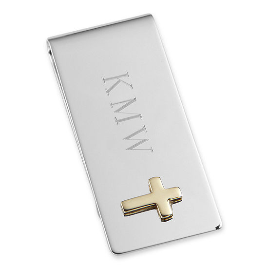 Personalized Money Clip With Cross