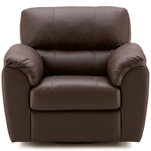 Leather Possibilities Pad-Arm Swivel Chair