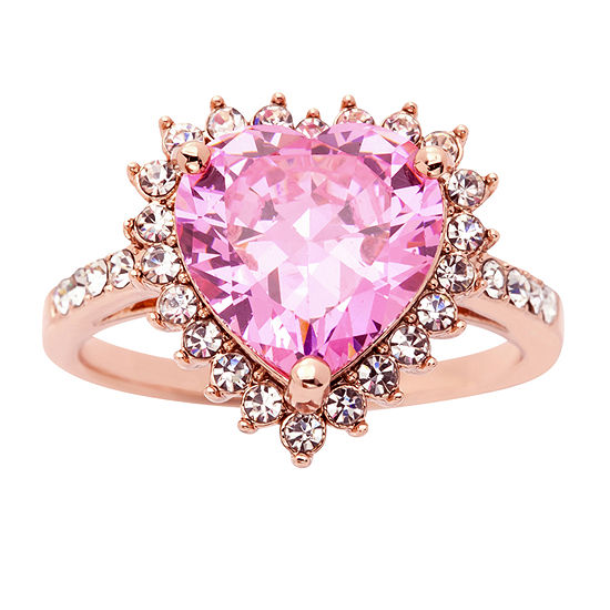 Sparkle Allure Pink 14k Rose Gold Over Brass