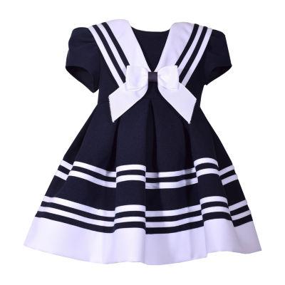 Bonnie Jean Short Sleeve A-Line Dress - Toddler Girls