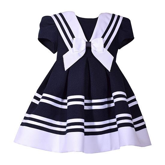 Bonnie Jean Girls Short Sleeve A-Line Dress - Toddler