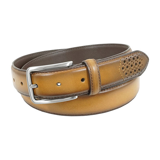 Stacy Adams® Giovante Perforated Edge Belt