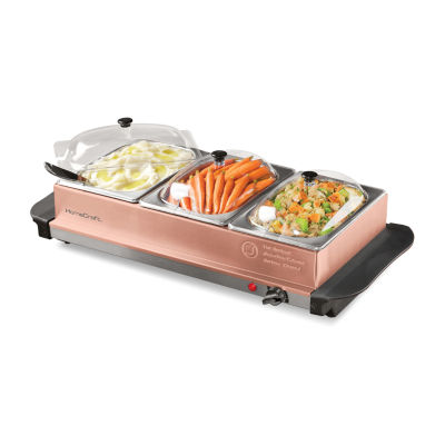 HomeCraft BSC15 3-Station 1.5-Quart Buffet Server & Warming Tray