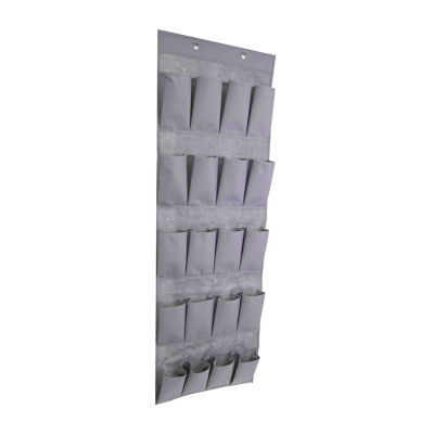Home Basics 600D Polyester Over the Door 20 Pocket Shoe Organizer